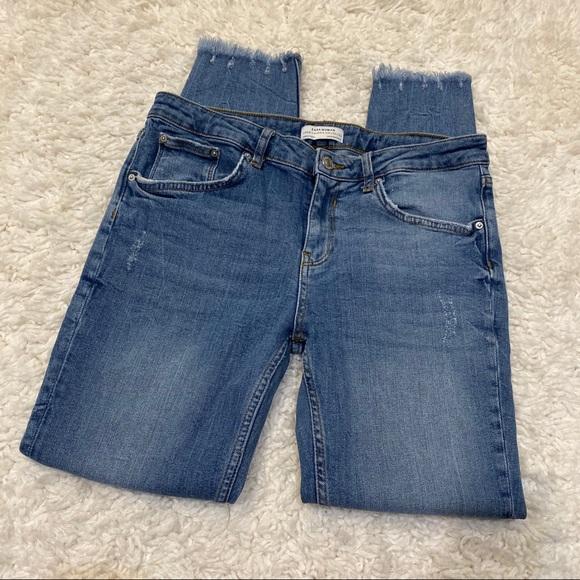 Zara Skinny Distressed Knee Jeans 8